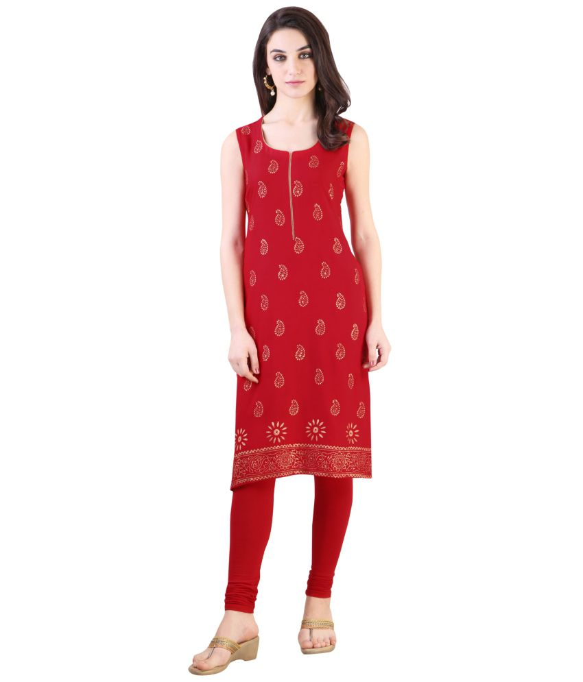 9dd5d128c Libas Red Rayon Kurta - Buy Libas Red Rayon Kurta Online at Best Prices in  India on Snapdeal
