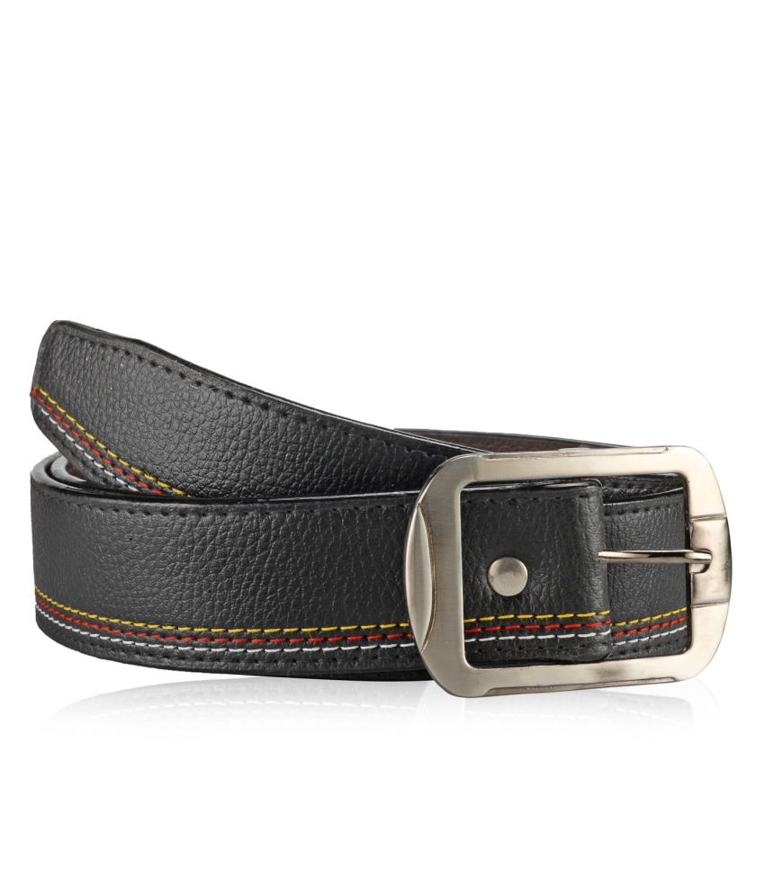 Allura Black Casual Single Belt Men