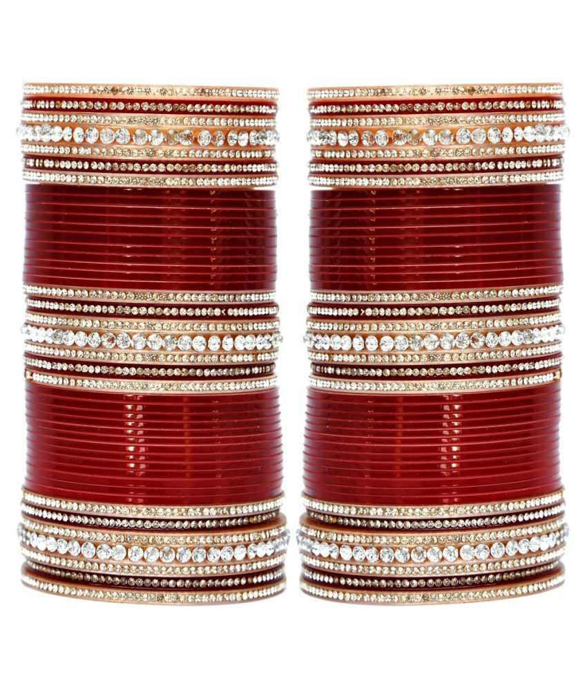 lucky jewellery maroon bridal punjabi choora wedding chura buy