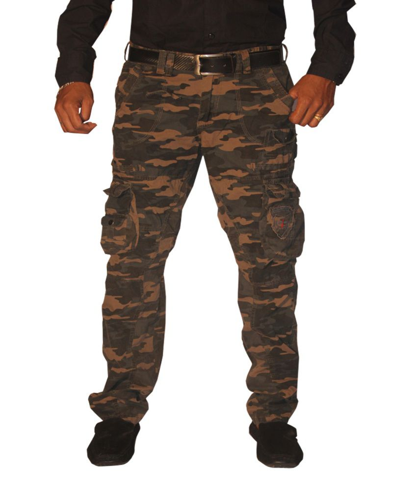 Madcaps Gray Camoflague Military Cargo Pant