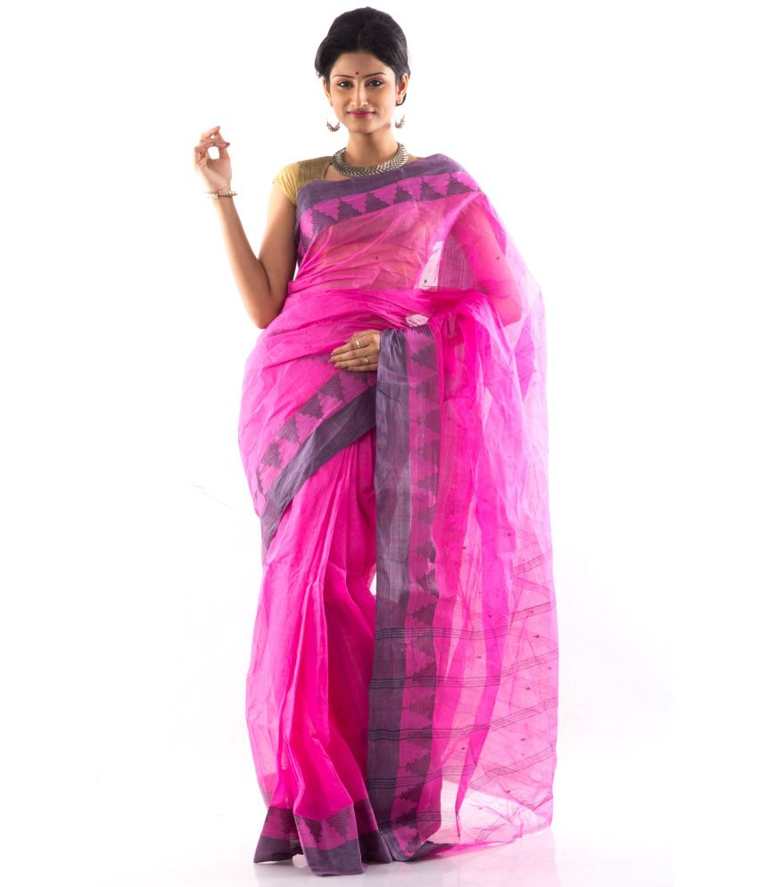 Mmantra Multi Color Cotton Bengal Tant Saree