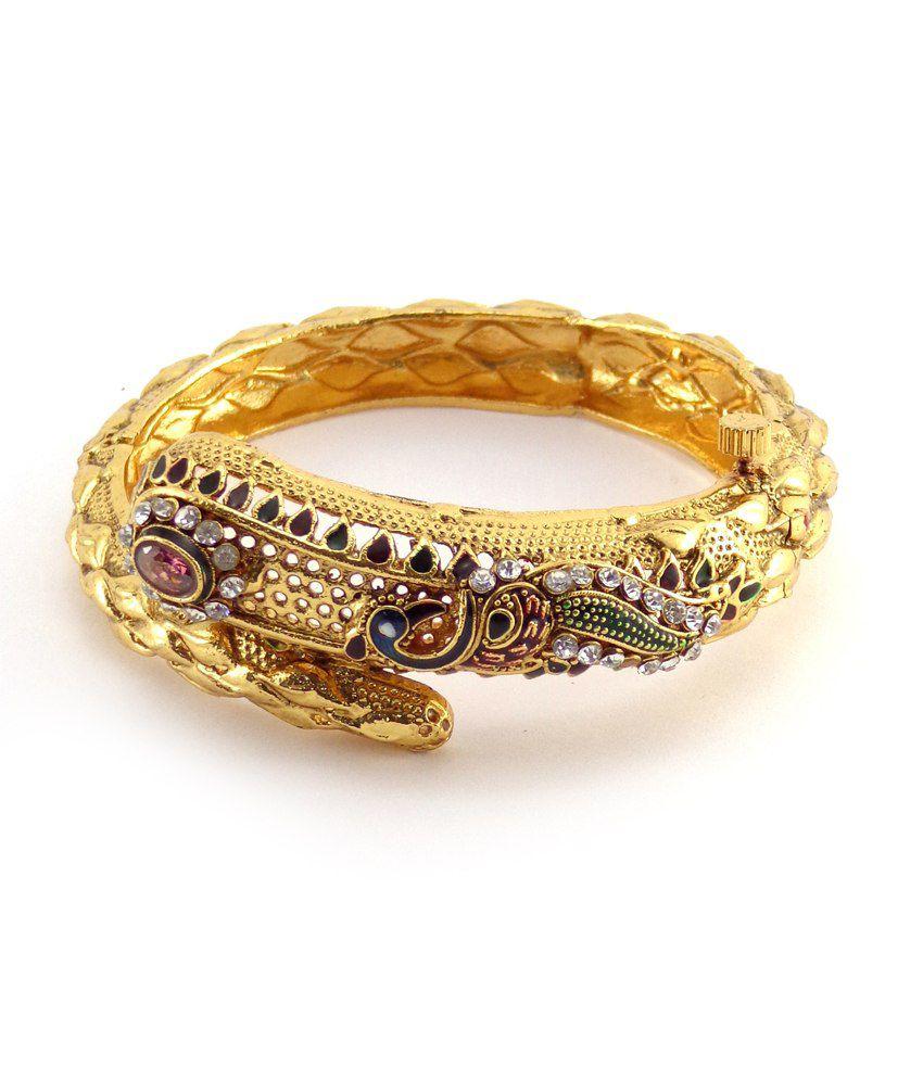 Nishiz Antique Gold Plated Wedding & Engagement Kada