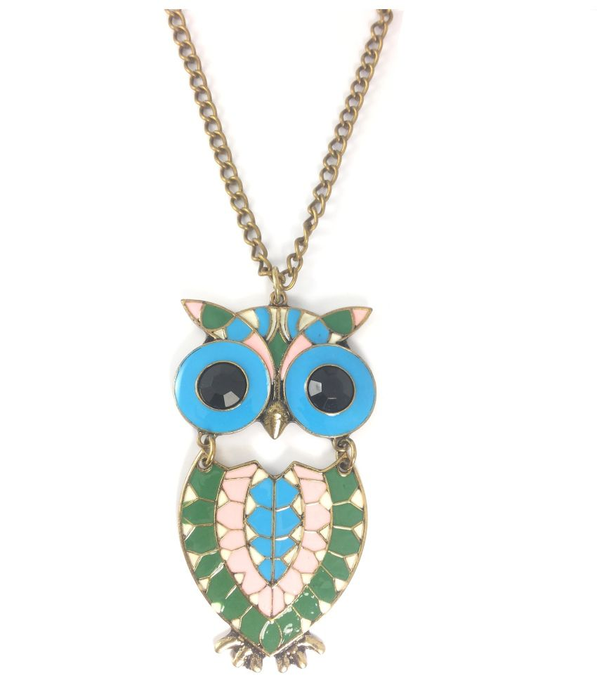 Ammvi Creations Quirky Owlet Pendant Necklace for Women