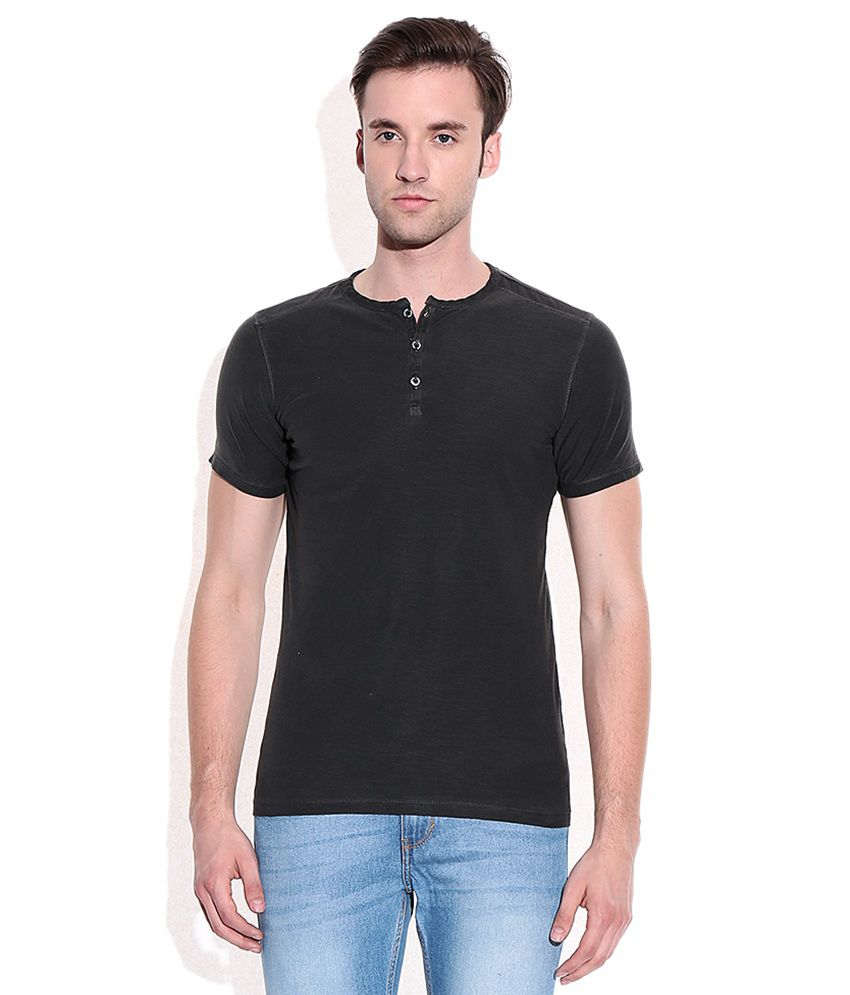 dd5aadd8 Mossimo Gray Cotton Henley T-Shirt - Buy Mossimo Gray Cotton Henley T-Shirt  Online at Low Price - Snapdeal.com