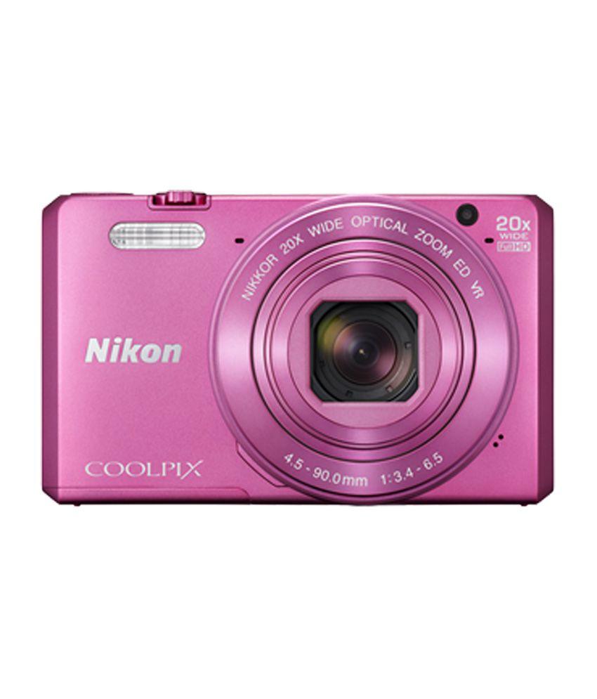 Nikon Coolpix S7000 16.0MP Digital Camera (Pink) Price in
