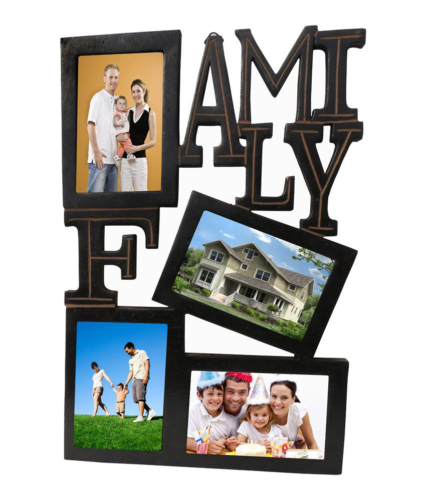 Pindia Fancy Black Wall Hanging Family Photo Picture Frame Collage