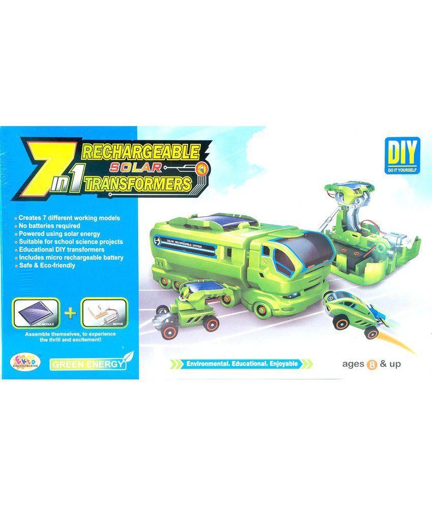 Ekta 7 In 1 Rechargeable Solar Transformers - big kids