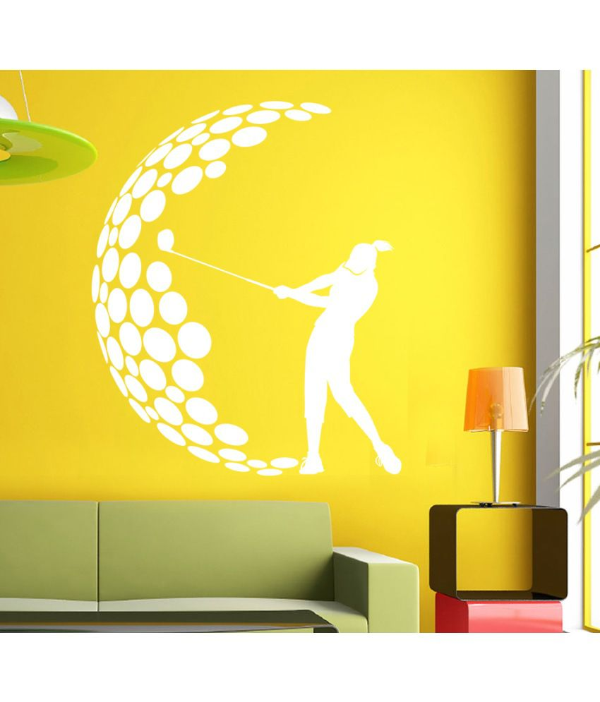 Hoopoe Decor Playing Golf Wall Stickers And Wall Decals, A Wall Art ...