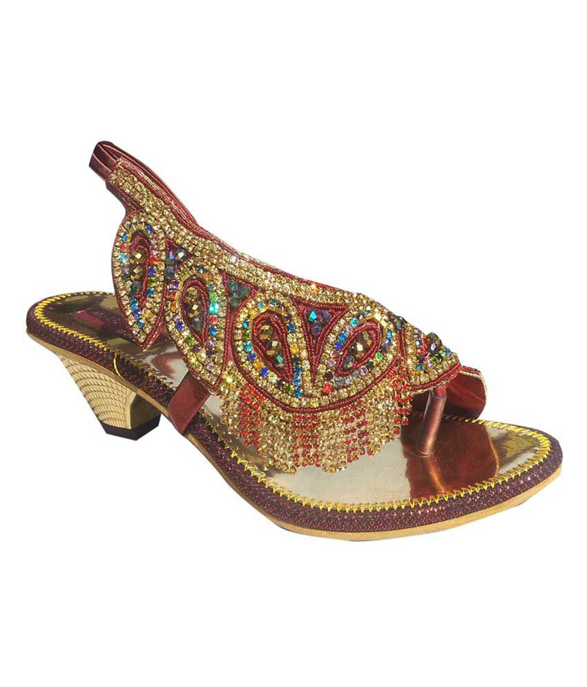 3a69b278c21c Vaishnovi Fancy Ladies Sandals With Heavy Stone Work Price in India- Buy  Vaishnovi Fancy Ladies Sandals With Heavy Stone Work Online at Snapdeal