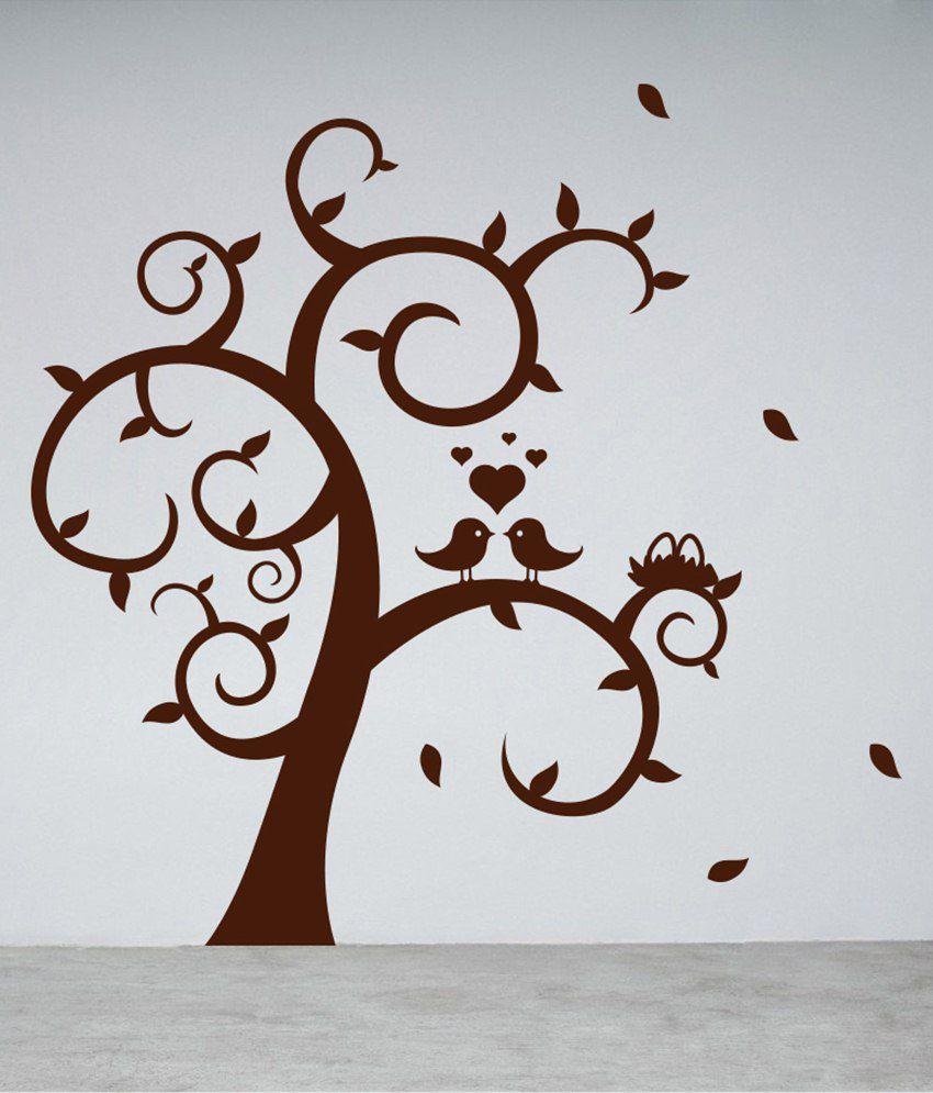 Decor kafe love birds on tree wall sticker buy decor for Decor to adore