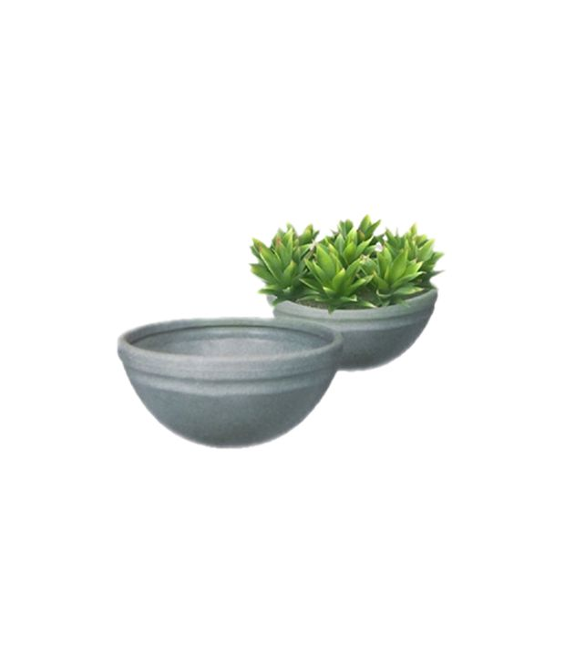 Decora pots gray virgin plastic garden decor buy decora for Garden accessories online