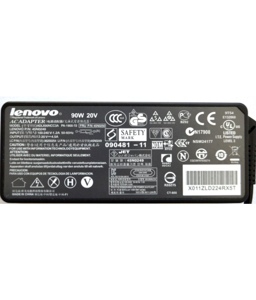 Lenovo ThinkPad 92P1159 Original Box 90 Watt Laptop Adapter With Free Clean India Wooden Pen
