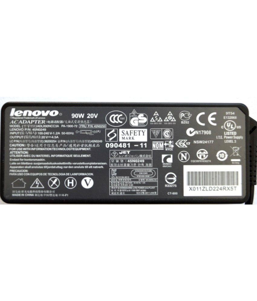 Lenovo ThinkPad T500 Original Box 90 Watt Laptop Adapter With Free Clean India Wooden Pen