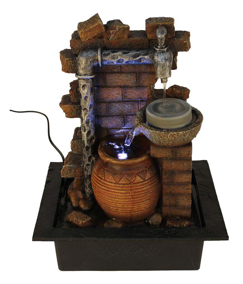 TiiKart Textured Water Fountain Showpieces TiiKart