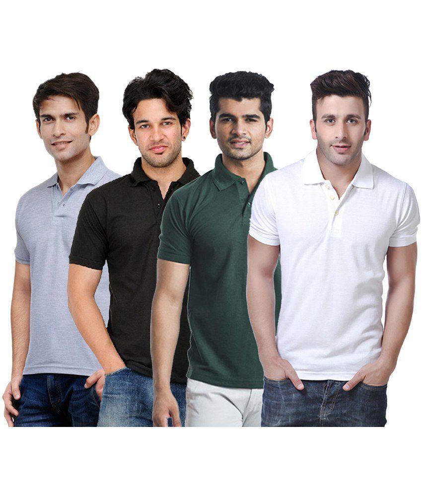 Rakshita's Collection Cotton T- Shirt (SET OF 4)