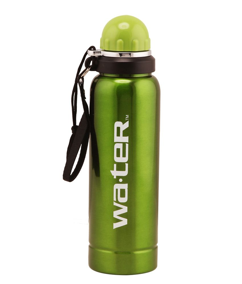 Wa Ter Stainless Steel Water Bottle 750ml Green Color