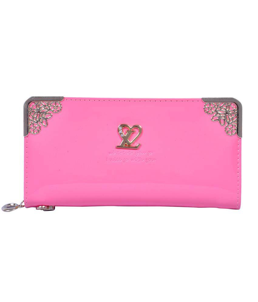 Accessories World Pink Partywear Clutch