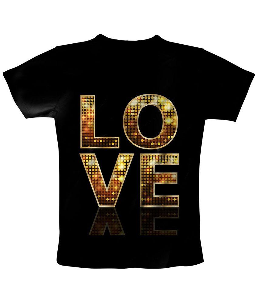 Freecultr Express Black & Brown Love 2 Printed T Shirt