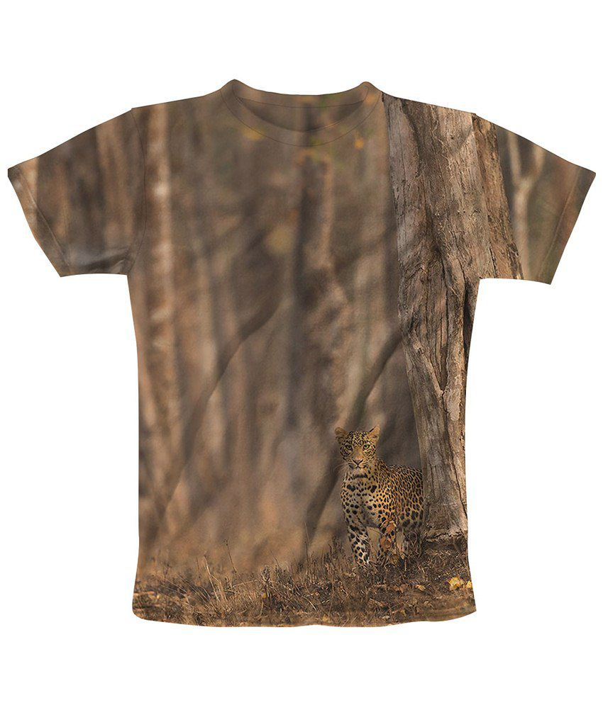 Freecultr express brown stand printed t shirt buy for T shirt print express