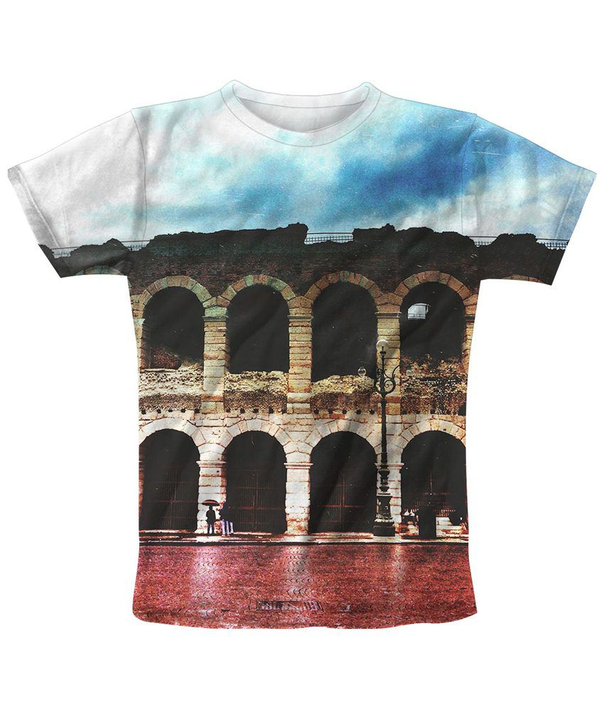 Freecultr Express Multicolour Earth Printed T Shirt