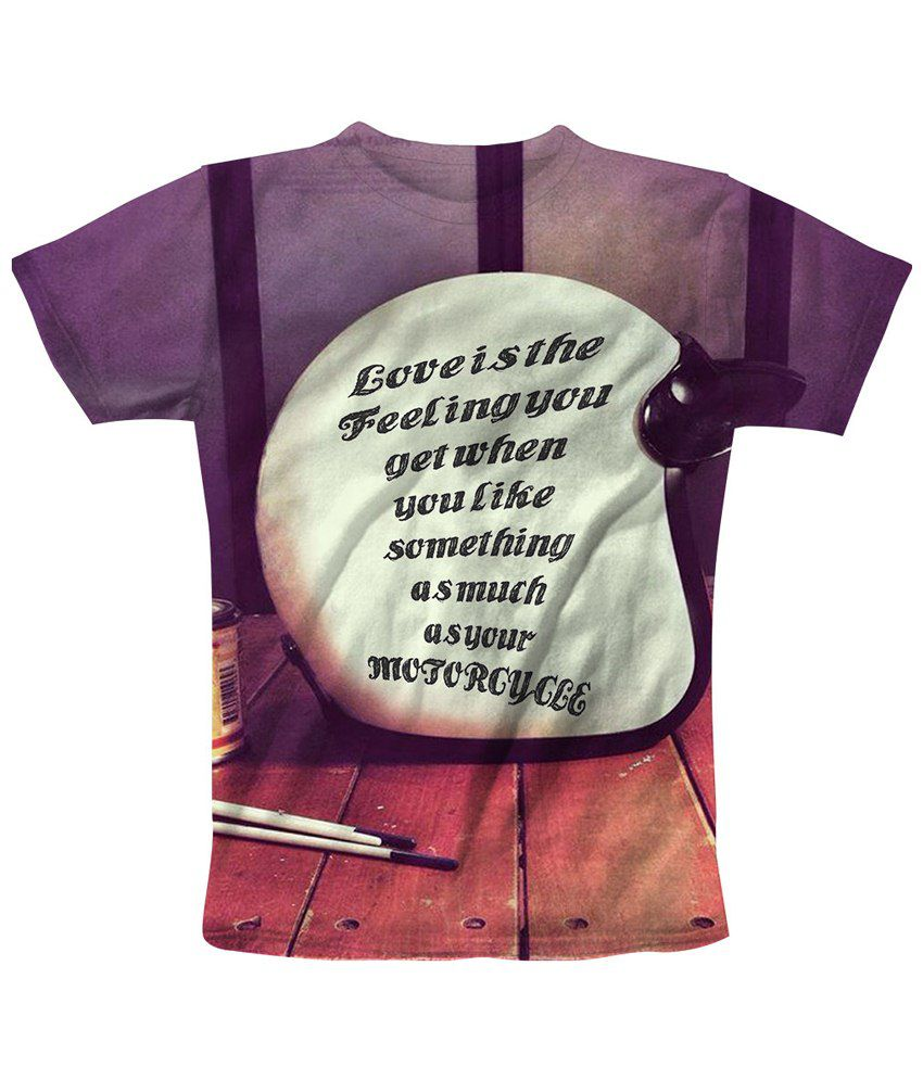 Freecultr Express Multicolour Motorcycle Printed T Shirt