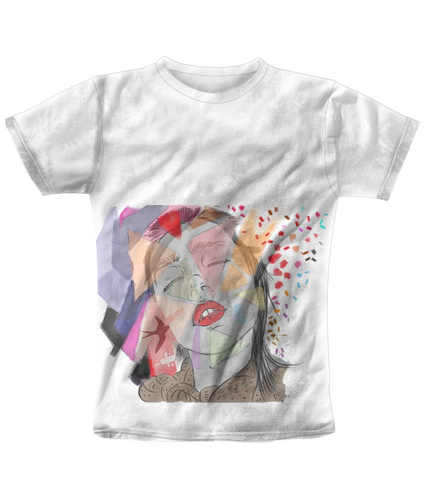 Freecultr Express White & Red Cubus Graphic T Shirt