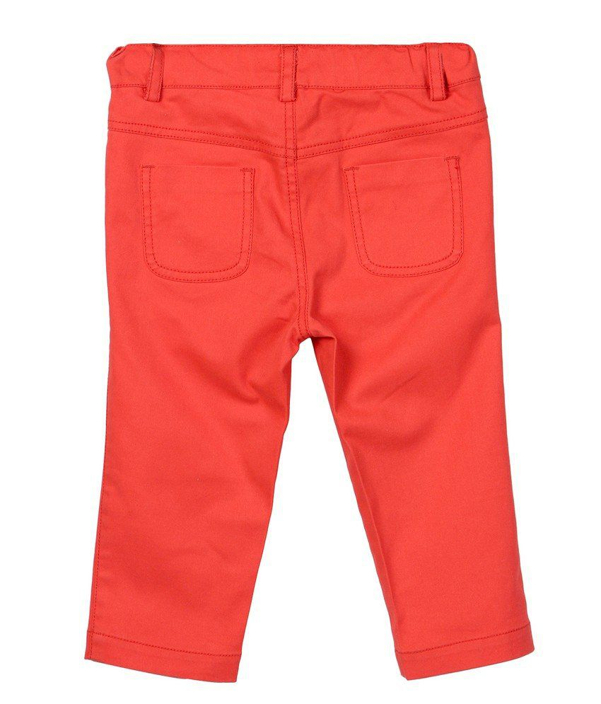 Red Twill Capri Red