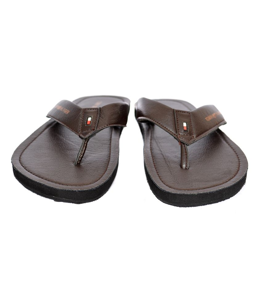 8d39c545bcd Tommy Hilfiger Brown Slippers Price in India- Buy Tommy Hilfiger ...