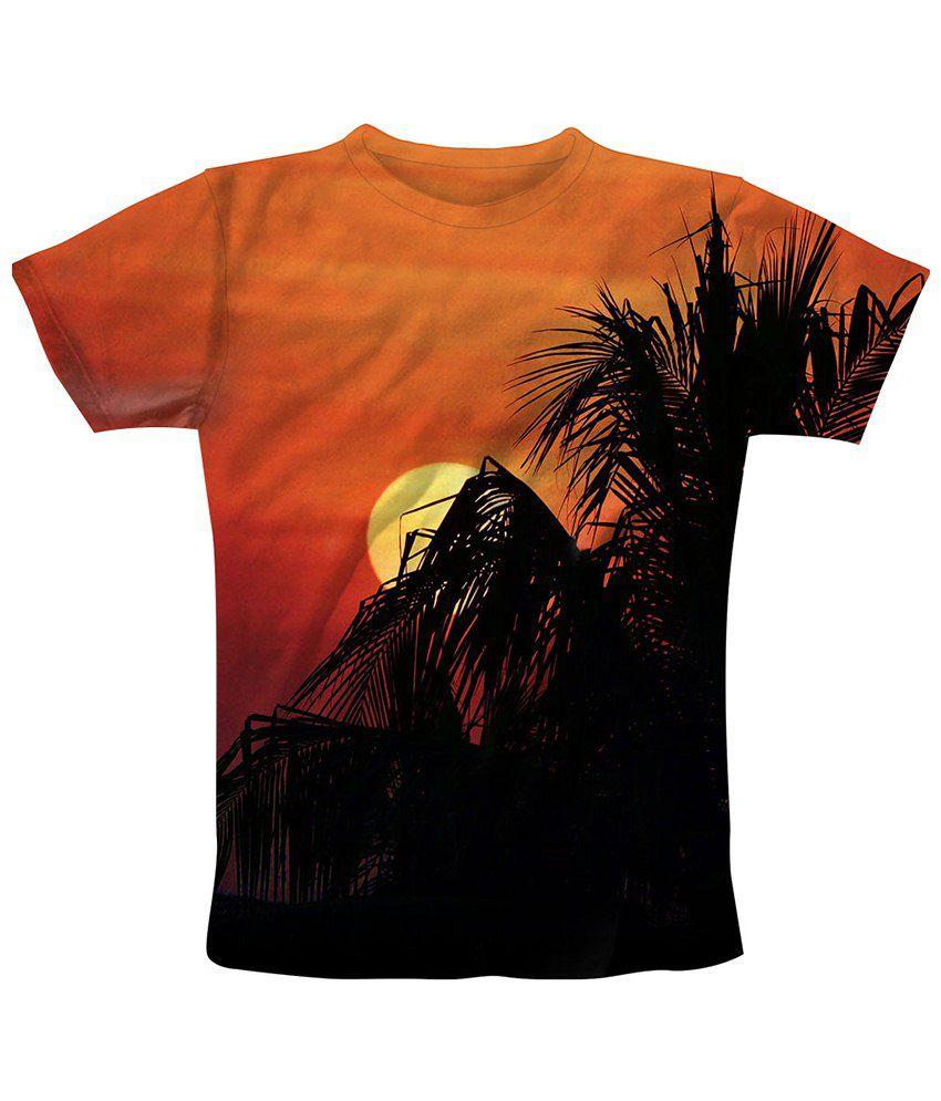 Freecultr Express Brown & Black Sun Screen Graphic T Shirt