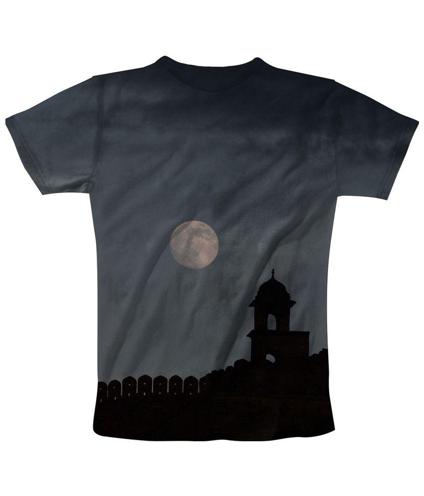 Freecultr Express Gray & Black After Dark Printed T Shirt
