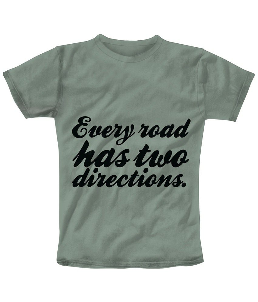 Freecultr Express Gray & Black Two Directions Printed T Shirt