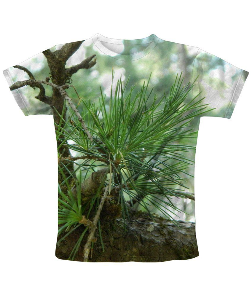 Freecultr Express Green & Brown Spike Printed T Shirt