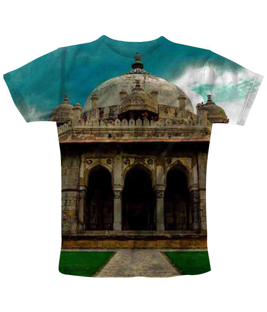 Freecultr Express Multicolour Dome Day Printed T Shirt