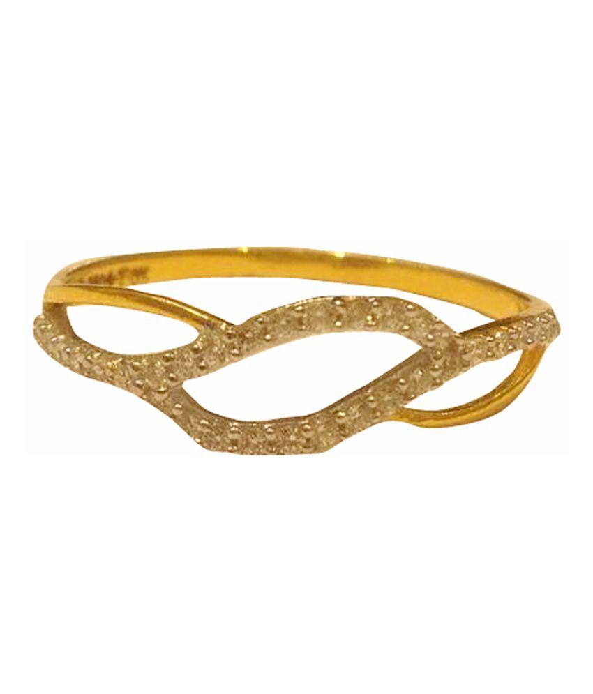 G.k. Thakkar Jewellers Gold 18kt Hallmarked Wedding & Engagement Ring