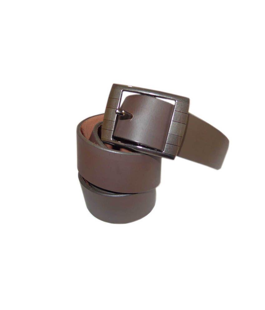 Good Life Stuff Brown Leather Formal Belt For Men