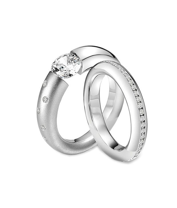 Rm Jewellers 92.5 Pure Silver Best Design American Diamond Stylish Lovely Couple Ring