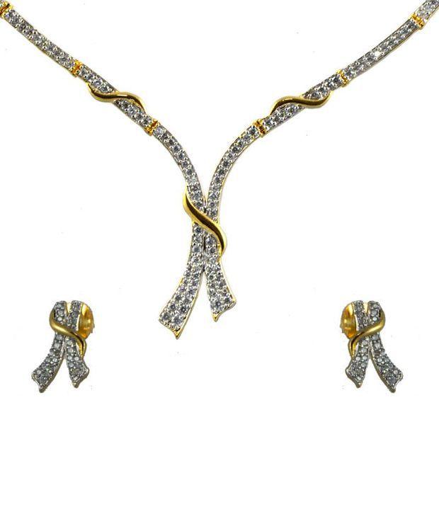 Swanvi Multicolour Contemporary Alloy Antique Dailywear Mumtaz Crown Necklace Set