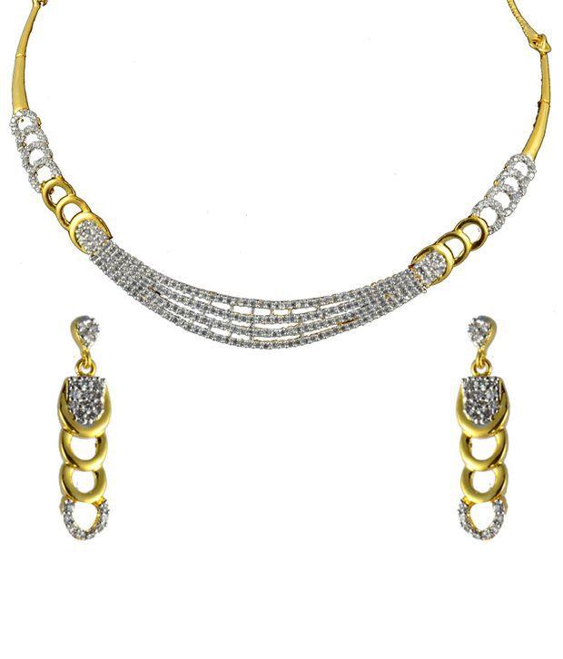 Swanvi Multicolour Contemporary Alloy Antique Dailywear Mumtaz Magic Necklace Set