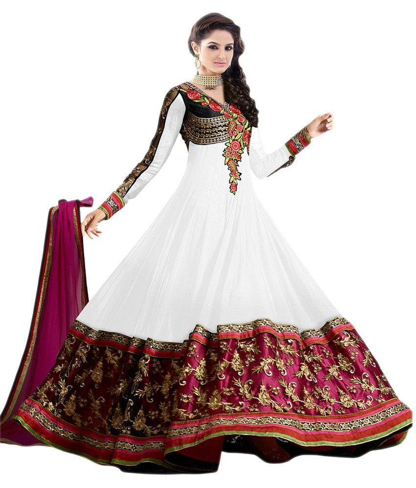 650236869a0 G Fashion White and Brown Georgette Dress Material - Buy G Fashion White  and Brown Georgette Dress Material Online at Best Prices in India on  Snapdeal