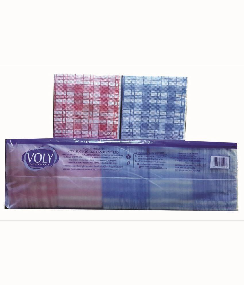 Voly 1000 Chex Paper Napkins 27x27cm 1000pcs - Pack Of 2