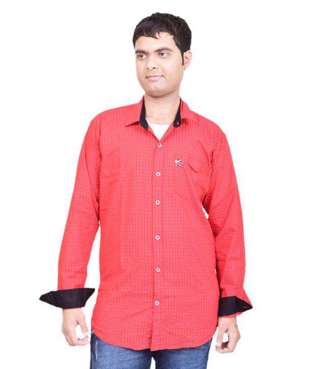 British Terminal Red Casuals Men Shirt