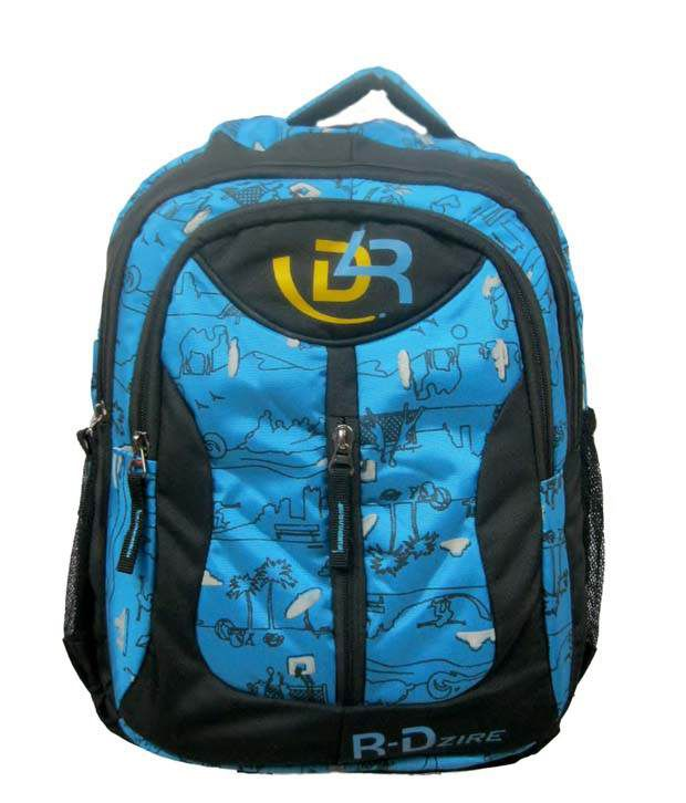 R-dzire Blue Water Resistant Laptop Backpack