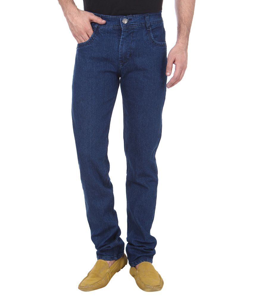Jack Berry Blue Cotton Blend Jeans