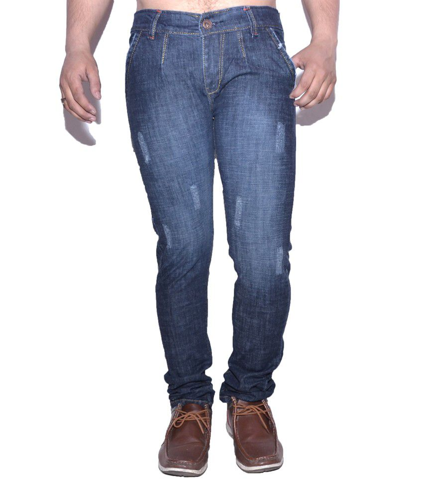 Nation Mania Light Dark Blue Slim Jeans