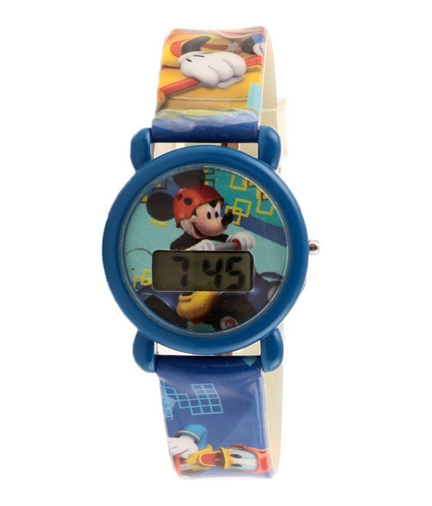 Disney Blue Mickey Mouse Digital Watch For Boys