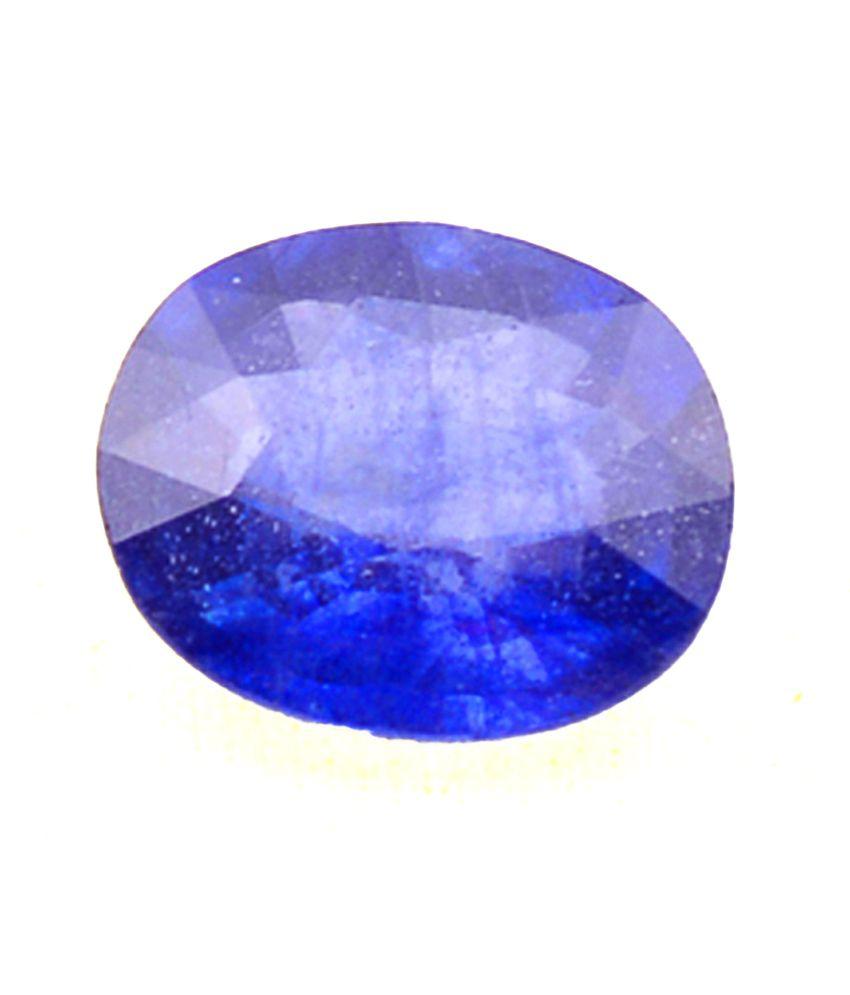 Shiva Rudraksha Ratna Natural Blue Sapphire - 3.68 Carat