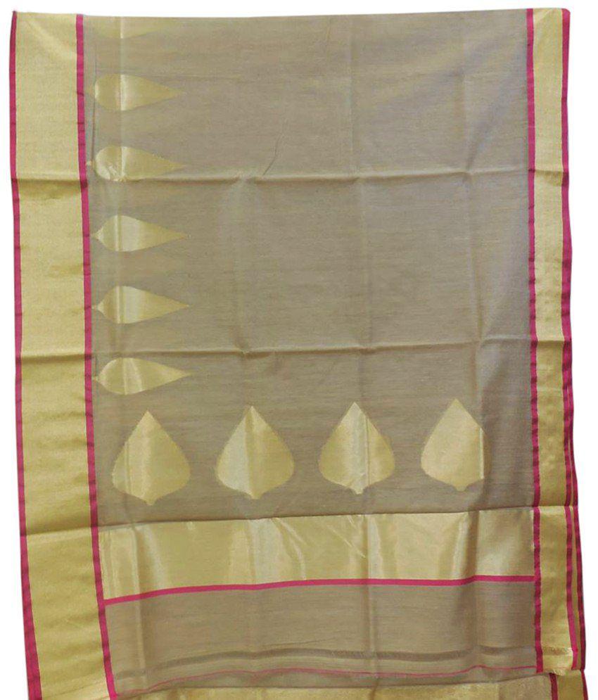 Vijay Prints Brown Georgette Saree