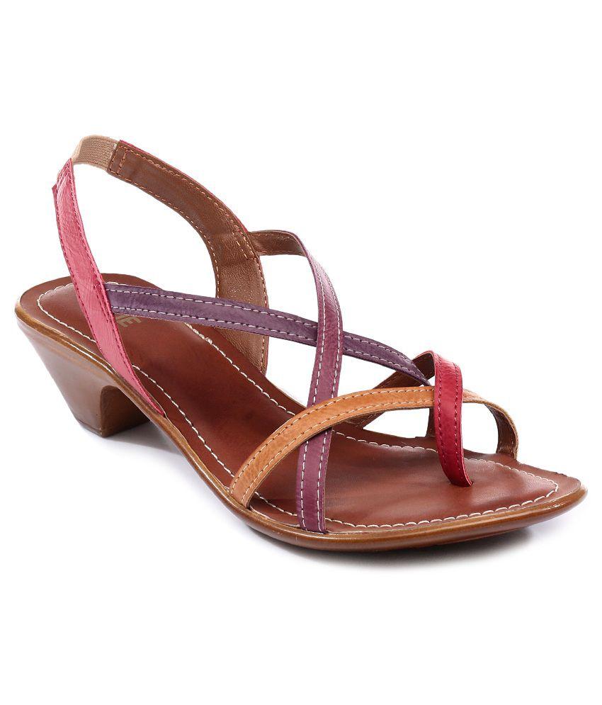 Lavie Red Sandals