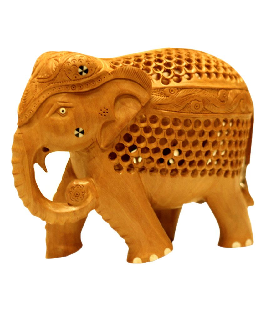 Mangalam Handcrafted Wooden Inlaid Elephant