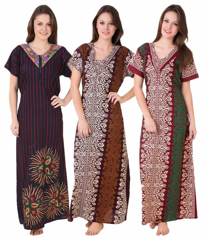 fec599f317 Buy Masha Cotton Nighty   Night Gowns Online at Best Prices in India -  Snapdeal